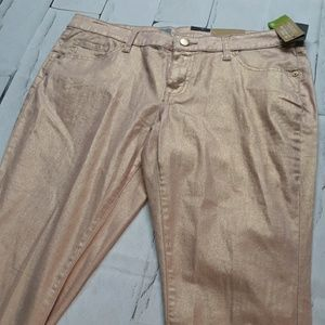 Mossimo Metalic Gold Jeans NWT